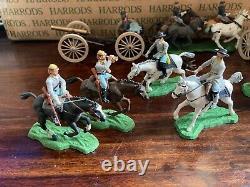 Vintage Britains American Civil War Gun Team & Mouted Confederate Union Soldiers