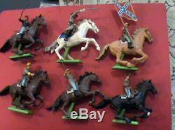 Vintage Britains Deetail 1/32 American Civil War Cavalry Infantry & 4 Horse Team