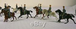 Vintage Britains Lead Toy Soldiers Civil War Battalions Union, Confederate