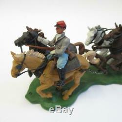 Vintage Britains Models American Civil War Gun Team & Limber 7434 Original Box
