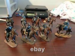 Vintage DelPrado Collection Civil War Union and Confederate Soldier on Horseback