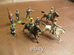 Vintage Early Maybe Pre War Britains CIVIL War Confederate Rebel Lead Soldiers