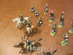 Vintage Early Prewar Britains CIVIL War Union Calvary And Infantry Lead Soldiers