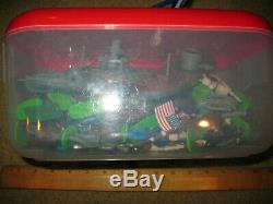Vintage Play Set Blue And Gray Armies Soldiers Civil War American Reflections