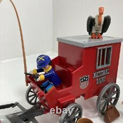 Vintage Playmobil 3037 National Bank Wagon Union Soldiers US Civil War RARE