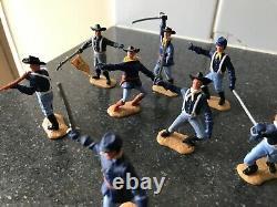 Vintage Timpo 7th Calvary American CIVIL War Yankees X 11