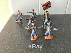 Vintage Timpo American CIVIL War Confederates X 7