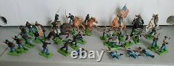 Vintage lot BRITAINS LTD 1971 Deetail Civil War toy soldiers 32 figures LOOK
