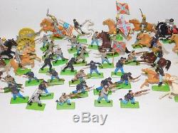Vtg Britains Deetail American Civil War 1971 Dated Toy Soldiers Horses Cannon