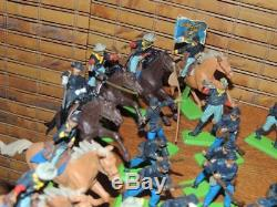 Vtg Lot 80 Britains Deetail England Civil War Union, Cavalry, Confederate Horses
