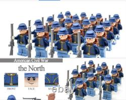 WW 100 Pcs Minifigures lego MOC the North Soldiers American Civil War & Weapons
