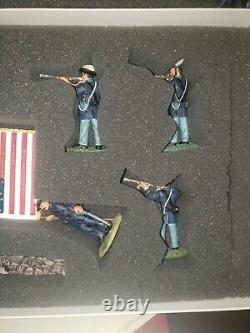 W Britain 17577 American Civil War THE BUCKTAILS 6 PCS SET
