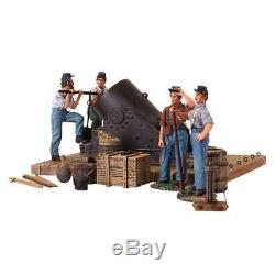 W Britain 31134 American Civil War 13 Inch Mortar and 4 Man Crew ACW