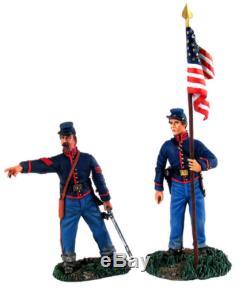 W Britain 31137 Union Artillery Command Set No 2 NCO & Bearer American Civil War