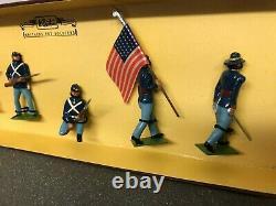 W Britain American Civil War UNION INFANTRY Toy Soldiers Set #8852
