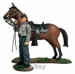 W Britain Soldiers 31270 American Civil War Confederate Orderly Holding Horse