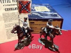 William Britains American Civil War Confederate Captain and Colour Bearer 17372