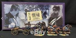 Wm Britain American CIVIL War 6 Horse 6 Man Artillery Set #17379 New In Box Nib